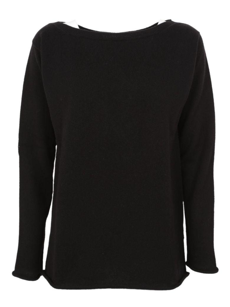 Saverio Palatella Boat Neck Sweater In Black