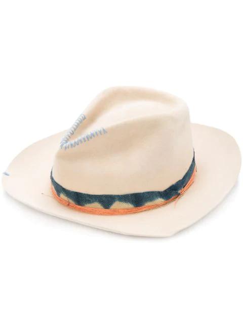 Nick Fouquet Sprayed Detail Hat - Brown