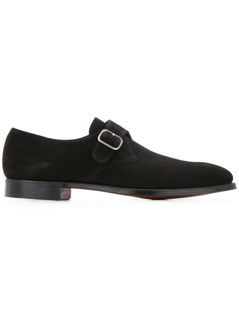 Crockett & Jones Formal Monk Shoes - Black