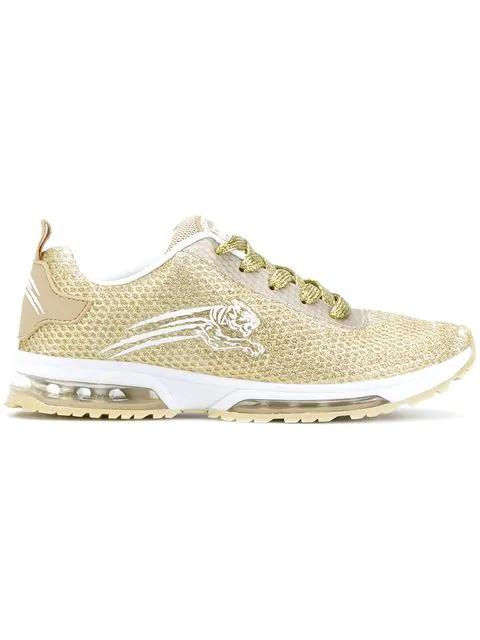 Plein Sport Running Sneakers In Metallic