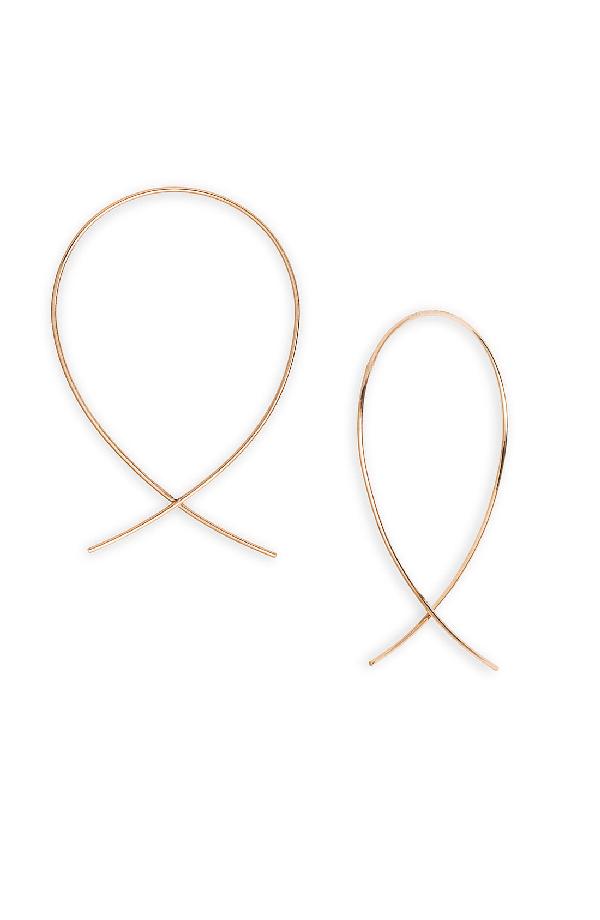 a44d1d84ecc49 'Upside Down' Small Hoop Earrings in Rose Gold