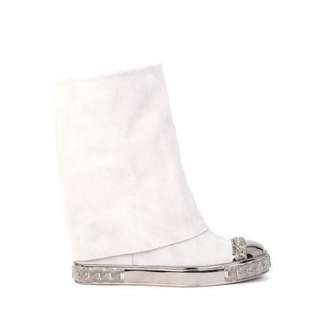 Casadei Sneaker In White, Silver