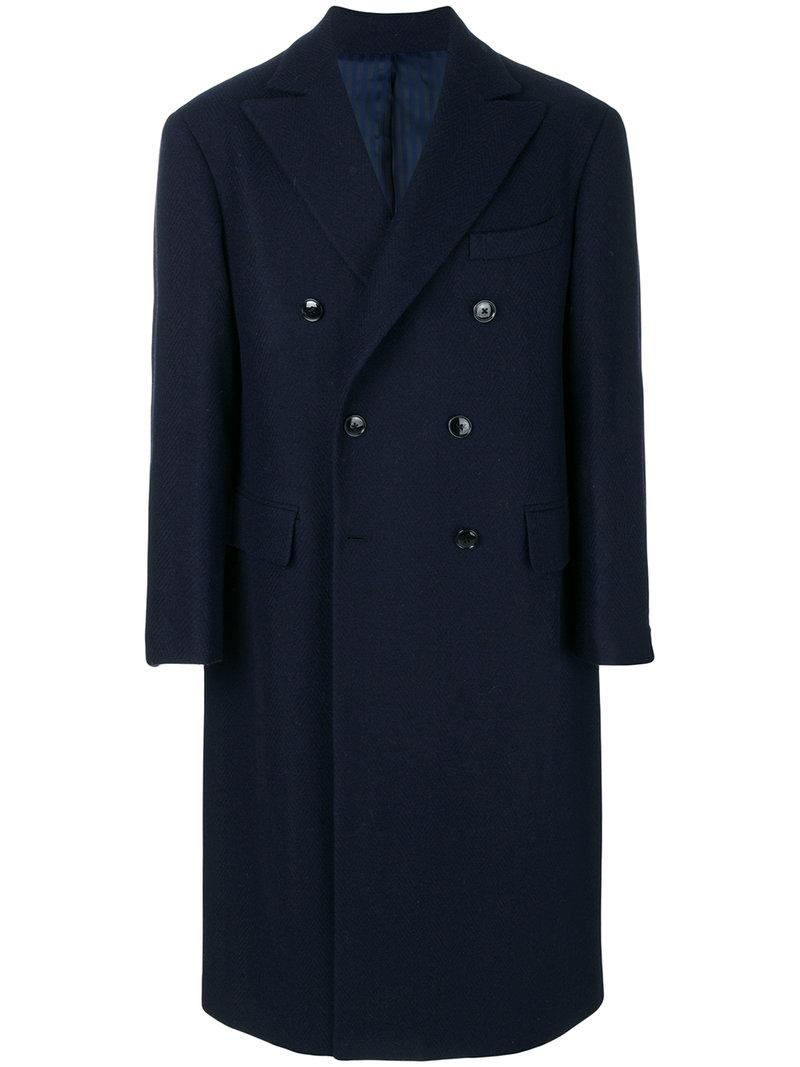 Mp Massimo Piombo Double Breasted Trench Coat
