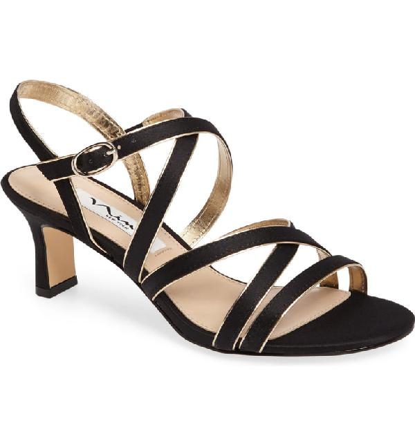 f854151ac Nina Genaya Strappy Evening Sandals Women's Shoes In Black | ModeSens