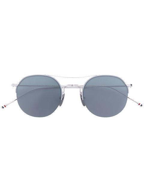 Thom Browne Runde Sonnenbrille In Metallic