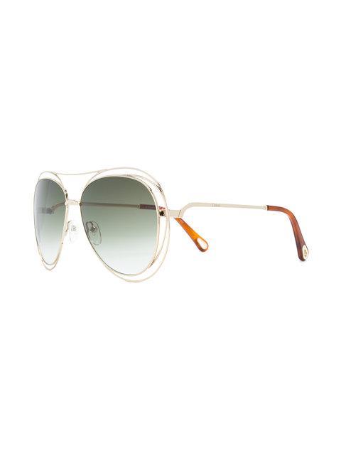 ChloÉ Aviator Sunglasses In Metallic