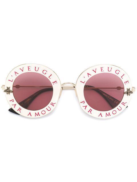 a9bd32bbba9 Gucci Eyewear L Aveugle Par Amour Sunglasses - Neutrals