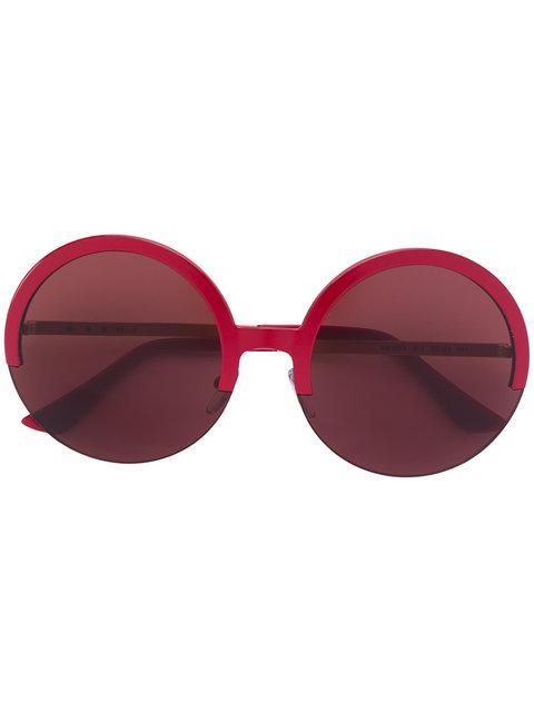 Marni Eyewear Halbrunde Sonnenbrille