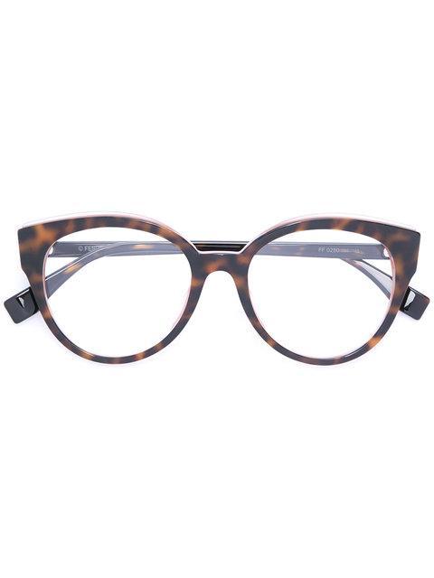 Fendi Tortoiseshell Oversized Glasses