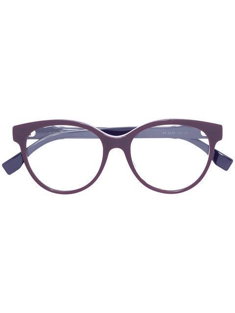 Fendi Studded Round Frame Glasses
