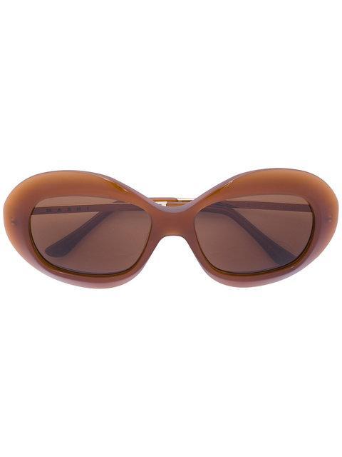 Marni Eyewear 'runway' Sonnenbrille In Brown