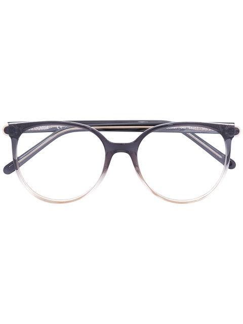 ChloÉ Eyewear Gradient-effect Round Glasses - Black