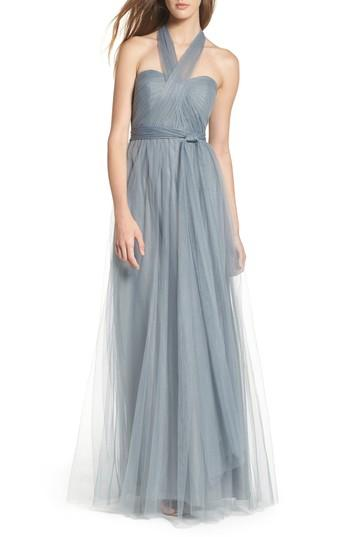 7746562997 Jenny Yoo Annabelle Convertible Tulle Column Dress In Mayan Blue ...