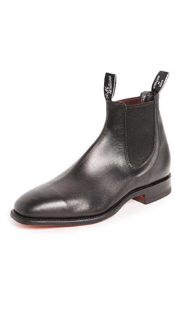 37880cca4f07e R.M.Williams Men's Comfort Craftsman Leather Chelsea Boots In Black ...