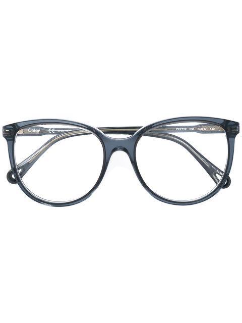 ChloÉ Round Frame Eyeglasses In Blue