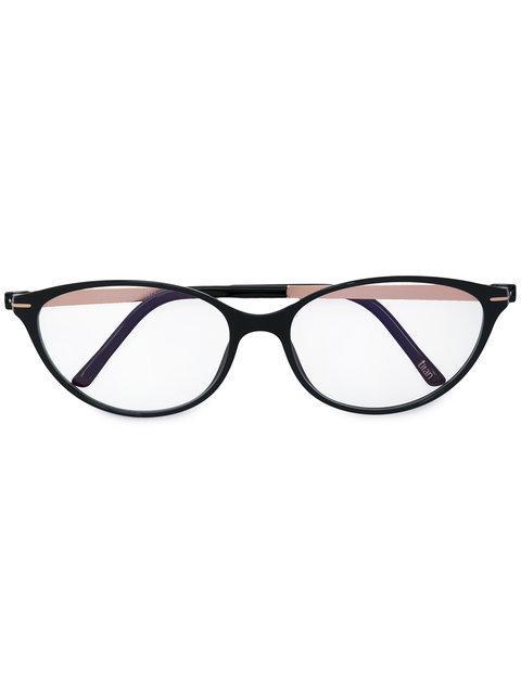 Silhouette Oval Frame Glasses - Black
