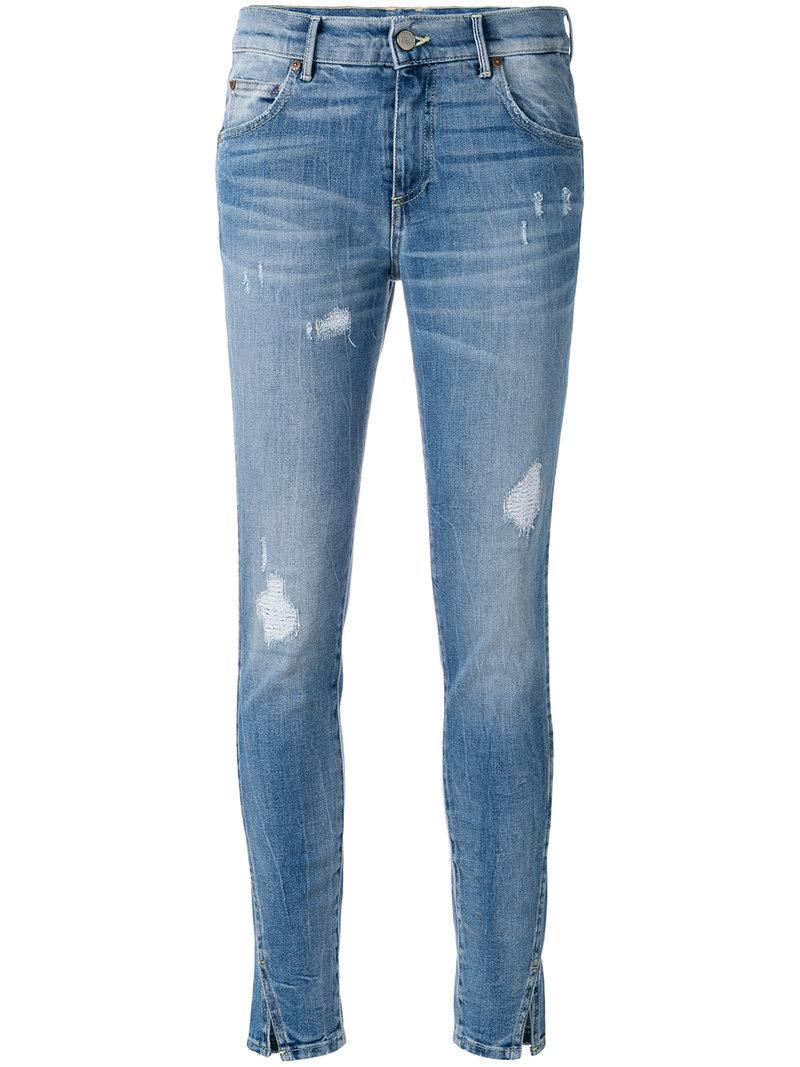 de560e560be5 Htc Hollywood Trading Company Htc Los Angeles Skinny-Jeans In  Distressed-Optik - Blau