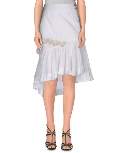 Diesel Knee Length Skirt In White