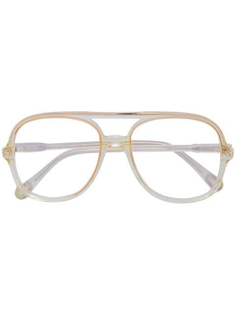 ChloÉ Eyewear Square Frame Glasses - Yellow In Yellow & Orange