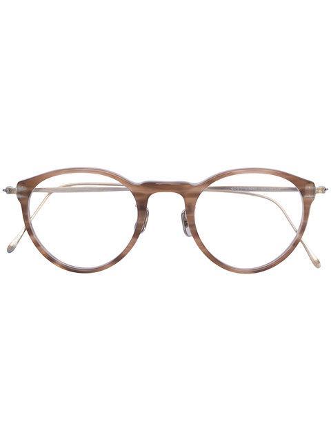 Eyevan7285 Marbled Round Frame Glasses