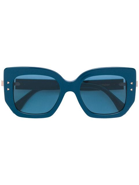 1a2f5d59f8 Fendi Peekaboo Blue Oversized Sunglasses