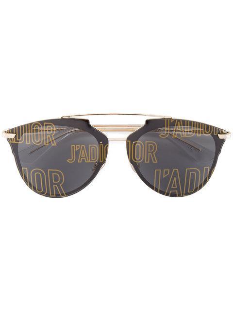 61e3c452fbcb Dior Eyewear Black J A Reflected Sunglasses - Metallic