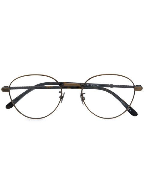 große Auswahl von 2019 60% Freigabe größter Rabatt Bottega Veneta Eyewear Brille Mit Runden Gläsern - Braun in Brown