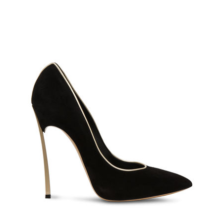 Casadei Blade In Black And Gold