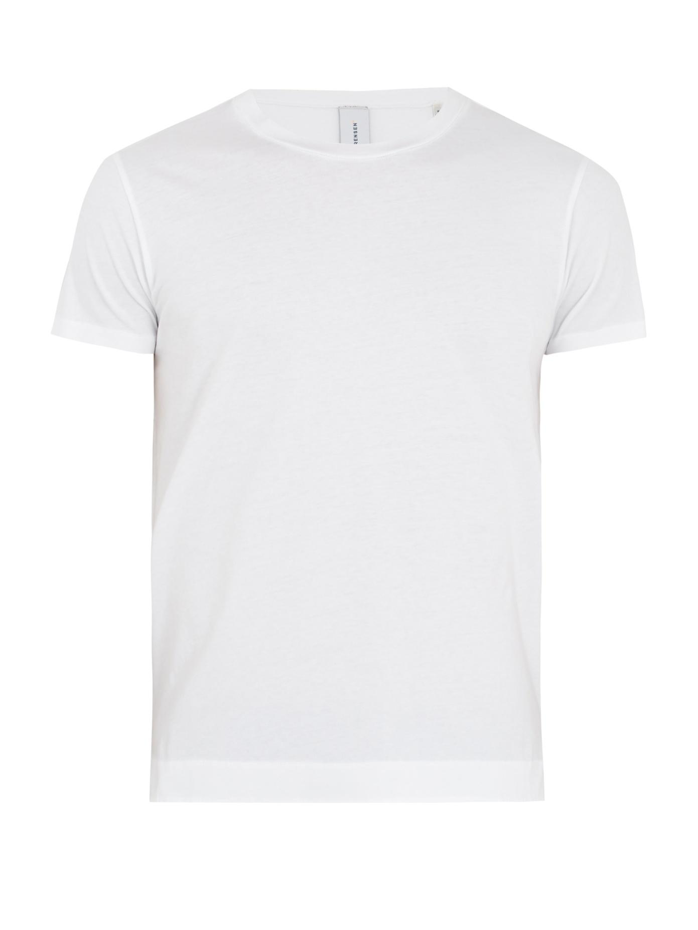 S0rensen Driver Crew-neck Cotton-jersey T-shirt In White