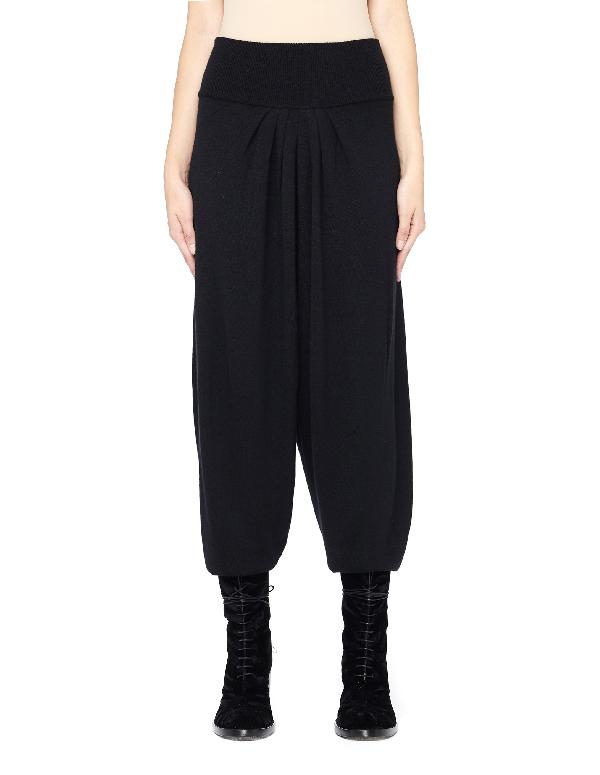 Urban Zen Elastic Waistband Cashmere Pants In Black