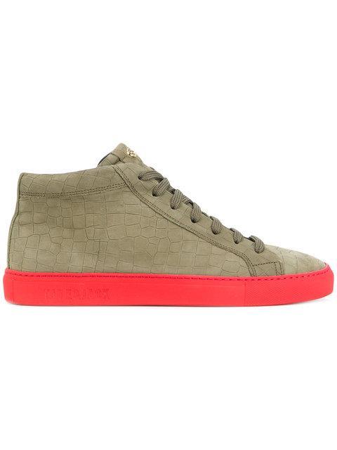Hide & Jack Hi-top Block Colour Sneakers