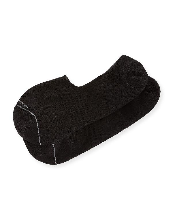 Marcoliani Invisible Touch No-show Socks In Black