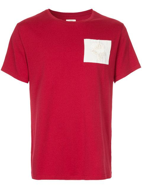 Kent & Curwen Short Sleeved Patch T In Red