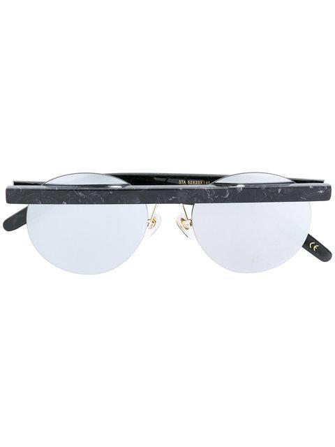Han KjØbenhavn Bar Detailed Round Sunglasses In Black