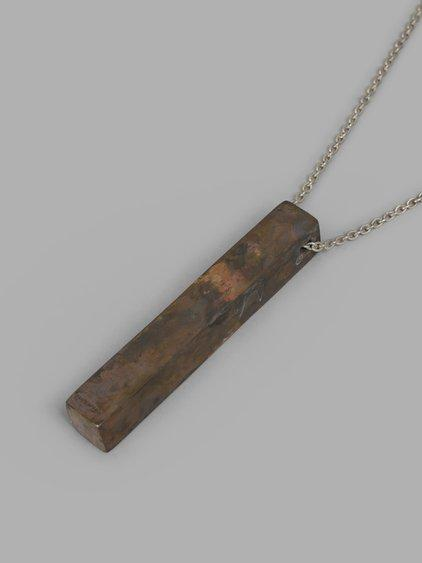 Parts Of Four Brown Cuboid Necklace