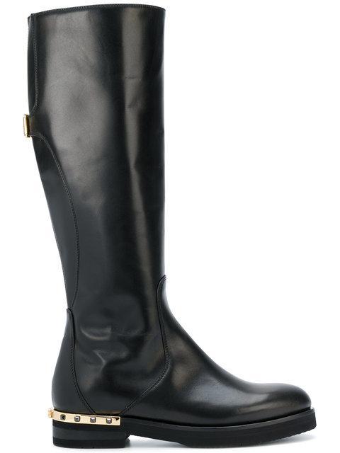 Baldinini Mid-calf Length Boots In Black