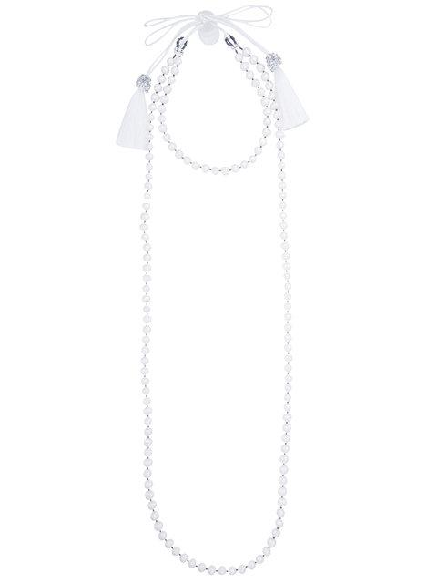 Night Market Tassel And Pearl Layered Necklace