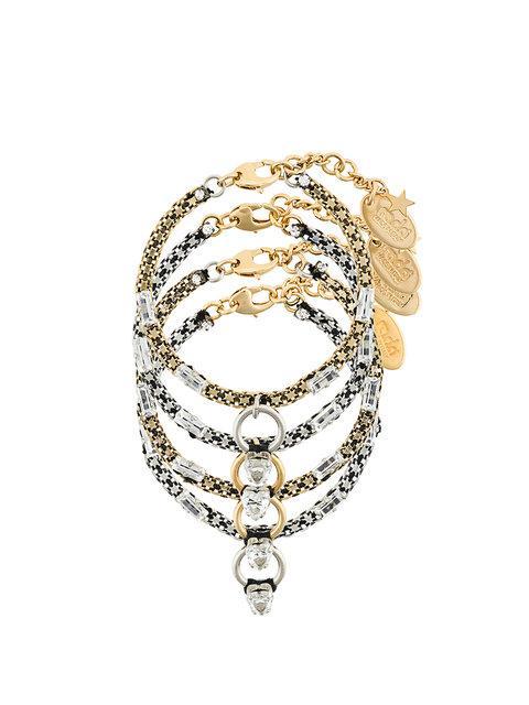 RadÀ 4 Set Of Gemstone And Ring Embellished Bracelets