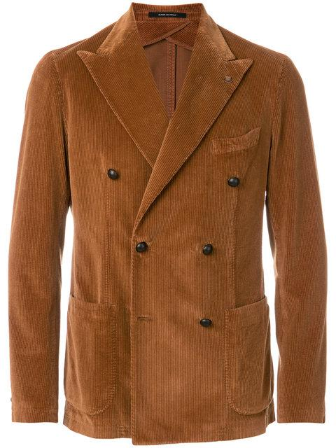 Tagliatore Double-breasted Corduroy Blazer