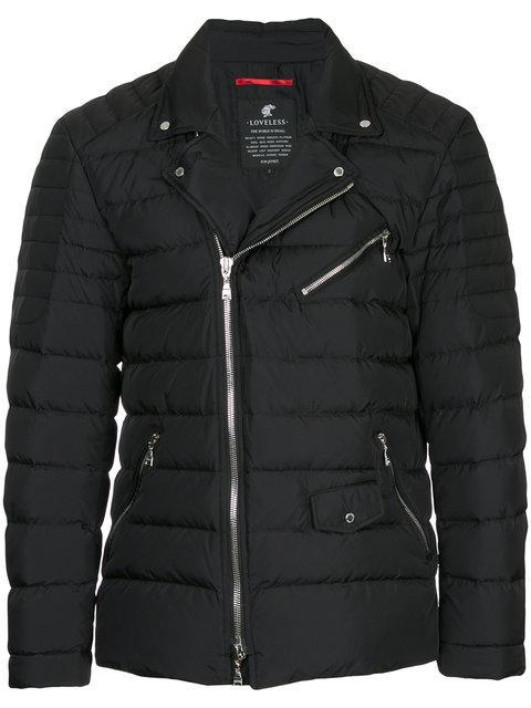 Loveless Zip Up Biker Jacket - Black