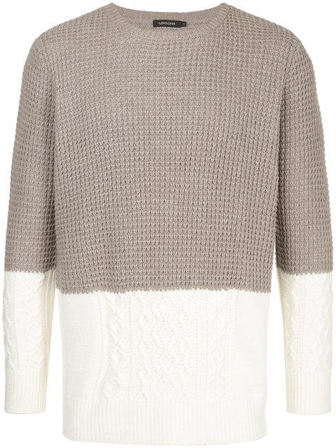 Loveless Contrast Knit Jumper - Brown