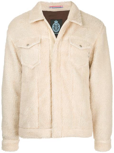 Guild Prime Furry Detail Jacket In Neutrals