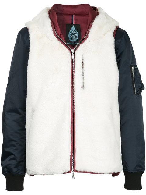 Guild Prime Contrast Hooded Padded Jacket - White