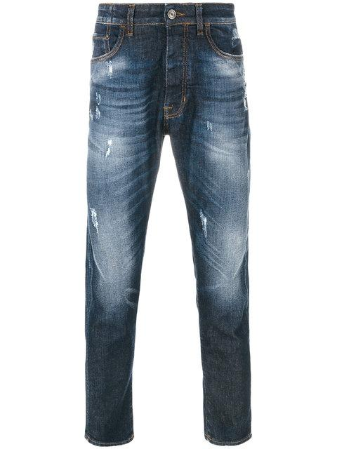 Low Brand Light-wash Fitted Jeans