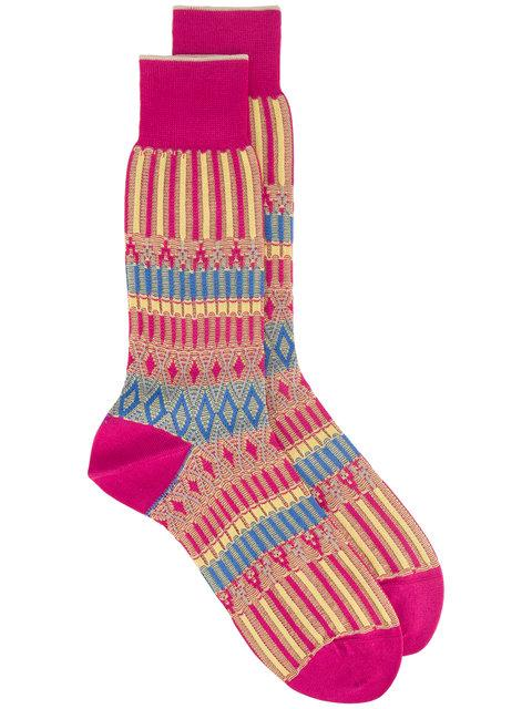 Ayame AyamÉ Pink Basket Lunch Patterned Socks - Pink & Purple