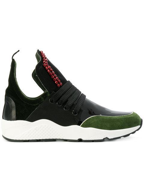 No Ka'oi Beaded Colourblock Sneakers In Black