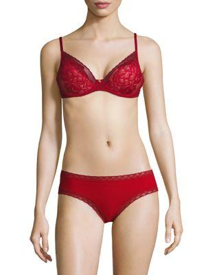 Natori Foundations Flora Contour Lace Bra In Burnt Red