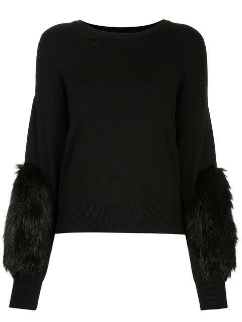Guild Prime Faux Fur Patch Sweater