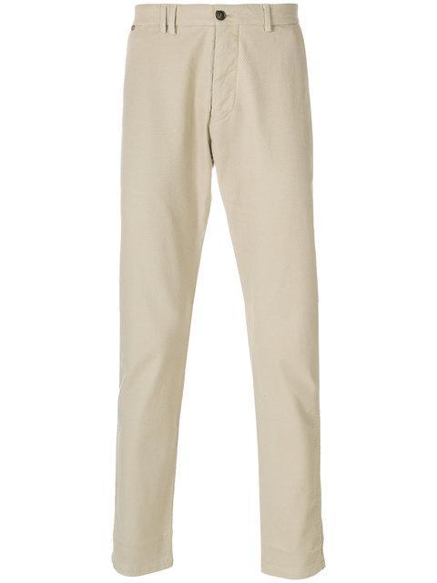 Al Duca D'aosta 1902 Slim-fit Trousers - Neutrals In Nude & Neutrals