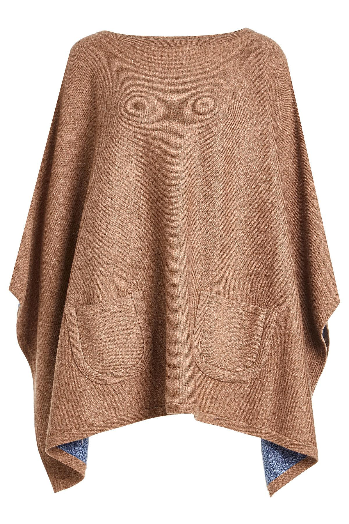 Claudia Schiffer Cape With Wool And Cashmere In Brown
